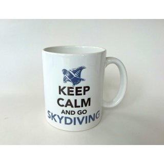 Geschenk Tasse mit Spruch: Keep Calm and go Skydiving - Wingsuit