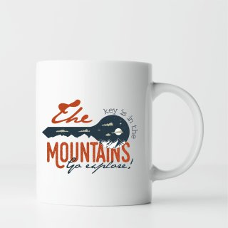 Geschenk Tasse: The key is in the mountains - Go explore Klettern - climb